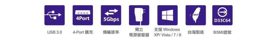 USB3.0符号 矢量图